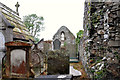 J5074 : Ruined church, Movilla Abbey, Newtownards (2) by Albert Bridge