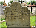 J5074 : Headstone, Movilla Abbey,  Newtownards (1) by Albert Bridge