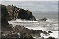 NT8670 : The rocky Berwickshire coast : Week 32