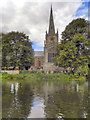 SP2054 : River Avon, Holy Trinity Church by David Dixon