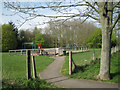 SP2765 : Play area near Antelope Gardens  by Robin Stott