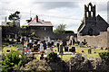 O2839 : Graveyard, St Mary's Church, Howth, Ireland by Christine Matthews