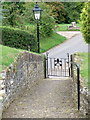 ST6717 : Gate, St Peter's Church by Miss Steel