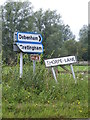 TM2061 : Roadsign &amp; Thorpe Name sign by Adrian Cable