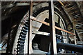 TM0690 : Old Buckenham Mill - Brake Wheel by Ashley Dace