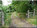 SO3893 : Public footpath on a gated track by Christine Johnstone