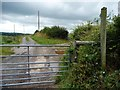 SO3078 : Gated track heading westwards by Christine Johnstone