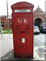 NZ3571 : Whitley Bay: postbox № NE26 412, Station Square by Chris Downer