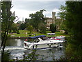 SU9277 : Boat by Oakley Court Hotel by Colin Smith