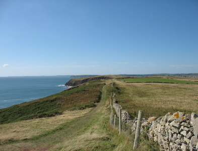 SS1495 : The south of Caldey Island by David Purchase