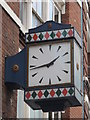 TQ3281 : Clock, Carthusian Street, EC1 by Mike Quinn