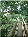 SK6349 : Footbridge over the Dover Beck by Alan Murray-Rust