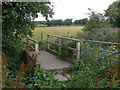 SK6249 : Footbridge near Calverton by Alan Murray-Rust