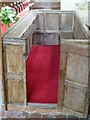 TQ2612 : Enclosed and carpeted pew in Poynings church by Shazz