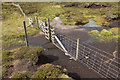 SD6047 : Gate in the watershed fence Saddle Fell by Tom Richardson