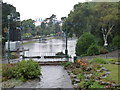 SZ0890 : Bournemouth: Lower Gardens closed due to flooding by Chris Downer