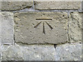 TA1972 : Bench mark on St Michael's, Bempton by John S Turner
