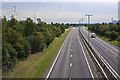 SJ5189 : The A557 from Wilmere Road Bridge by Ian Greig