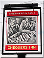 TQ9357 : Chequers Inn sign by Oast House Archive