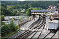 SJ2142 : Llangollen Station and River Dee by Philip Halling