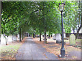 TQ4483 : Path in St Margaret's churchyard by Stephen Craven