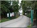 SE5314 : Entrance to construction site by Christine Johnstone