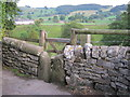 SK2164 : Stone stile and gate for footpath down to the Limestone Way in Youlgrave by peter robinson