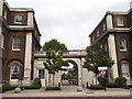TQ4379 : Gateway between Building 37 and Building 36, Royal Arsenal by David Anstiss