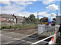 SJ9087 : Woodsmoor Lane Level Crossing by David Dixon