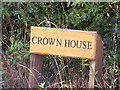 TM2169 : Crown House sign by Adrian Cable