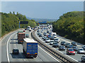 TQ4756 : M25 on a bank holiday weekend by Robin Webster