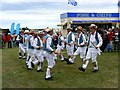 SU3188 : Morris Dancers at the White Horse Show, Uffington 2011 by Brian Robert Marshall