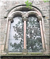 SJ8763 : St John's Church, Buglawton- Northern window by Jonathan Kington