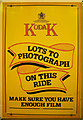 TG1543 : Kodak film advertisement, Sheringham NNR Station by Julian Osley