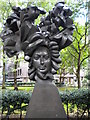TQ2979 : Bust of Henry Purcell, Christchurch Gardens SW1 by R Sones