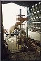 TL0846 : Airship Hangar No. 2 - interior view to west in 1994 by John Webb