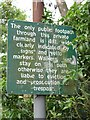 SE3938 : Notice on Leeds Country Way by Derek Harper