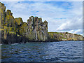 NG5137 : Basalt cliffs on the Sound of Raasay by John Allan