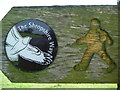 SO3697 : The Shropshire Way waymarker disc, detail by Jeremy Bolwell
