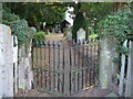 SJ3802 : The gates, Lordshill Baptist chapel by Jeremy Bolwell