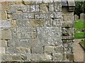 SE8564 : Medieval stone grave slabs, St Martin's ruined church by Pauline Eccles