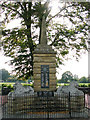 TF6830 : War Memorial on the corner of Station Road, Dersingham by Evelyn Simak