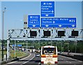 TQ4799 : M25, approaching junction 27 by Nigel Chadwick