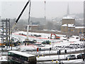 SE0925 : Broad Street Plaza development site, Halifax, in the snow by Phil Champion