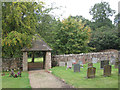 SP2479 : Lych gate, Berkswell churchyard  by Robin Stott