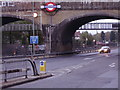 TQ2388 : Northern Line bridge over the North Circular, Golders Green by David Howard