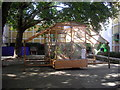 TQ3078 : Mobile Picnic Pavilion, in grounds of Tate Britain by PAUL FARMER