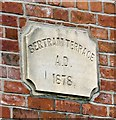 SJ9494 : Bertram Terrace Date Stone 1878 by Gerald England