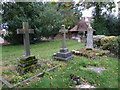 SP8328 : Holy Trinity, Drayton Parslow- crosses by Basher Eyre