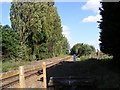 TM2950 : Railway line to Campsea Ashe (Wickham Market Station) by Adrian Cable